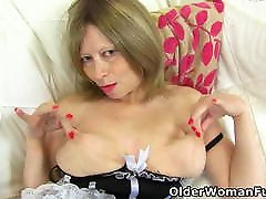 pasi sac bp blonde Molly gets aroused in nylon tights