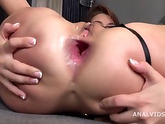Nicole Black 2on1 Balls Deep Anal, Dap, Big Gapes And Cum On Open Asshole Gl281