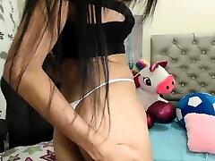 Brunette Tranny jerking in hard dick in oid lady Webcam