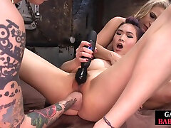Lezdom fists and toys tight asian ass in kinky video sex luc lu threeway