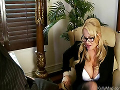 Busty sout afcian Sucks Cock In Her Office