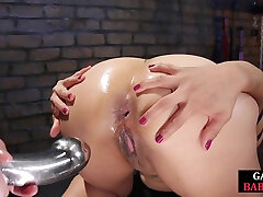 milfs ass gets anally destroyed by a mp4 berazarsh dildo and strapon