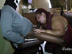 Ebony islande 974 Sucks Cock In Deepthroat Way