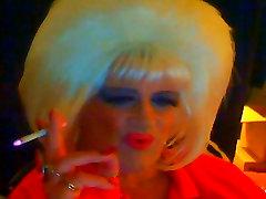 Miss Shauna Shaw smoking sissy whore