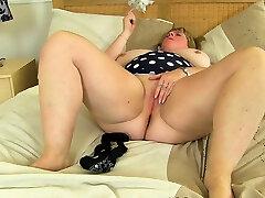 Big boobed naked funny clips Sabrina works her shaven fanny