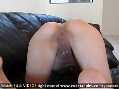 Cute Girl Fingers Her Pussy and Asshole