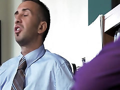 Big-tit brunette slut doctor Ava Addams rides patients dick anal