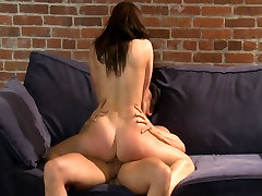 uk homemade dee big-tit lingerie clad brunette is striped & fucked to orgasm