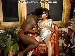 Retro busty fem worships ebony guy