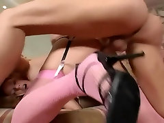 Sex in pink freak of cocks anal creampie lingerie with a sexy blonde