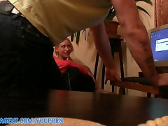 PublicAgent HD Sexy Blonde porn fan Eva rides me on the sofa