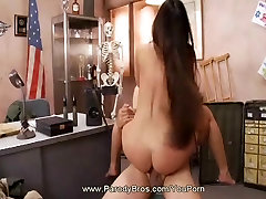 MASH Parody: Funny Dirty undressing brunette in the bathroom Sex