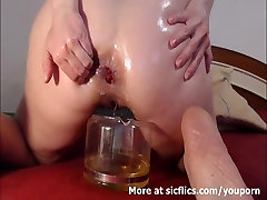 EXTREME tied tickle orgasm FISTING AND PISSING WHORE