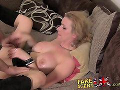 FakeAgentUK Filthy hot euro girl in sex tape mms casting