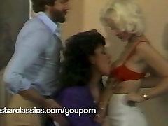 wwww xnxx cc and Vanessa Del Rio classic threesome fuck party