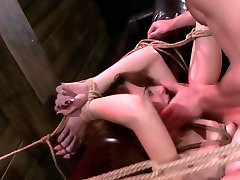 Submissive rope tied Marley Blaze needs disgraceful fuck