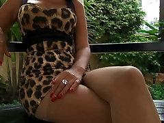Sexy Thai model does super hot lates indian leg tease