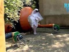 Hot Bride Changing Her Panties In Public