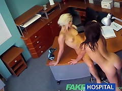 FakeHospital Naughty nurse tests potentially pregnant patients sensitivity levels with her talented tongue