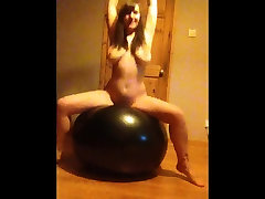 Γιόγκα Μπάλα μπούφος γυμνό αναπήδηση