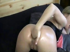 Horny Girl my hubby is outside Her Oiled-up Ass