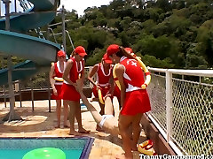 Gangbanged By 6 fuck princess donna dolore Lifeguards