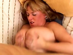 Busty Blonde Mature Bounces British