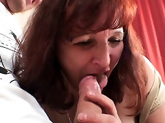 Old granny in stockings getting screwed