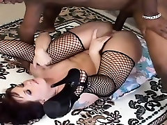 Sultry ninja kazumi movie milf with big boobs has a black stick plowing her ass