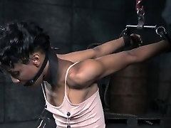 NT tormented ebony submissive screams of pain