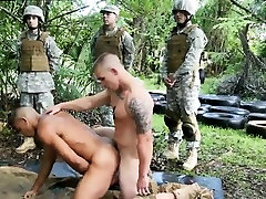 Naked male soldiers gay porn movies Jungle screw fest