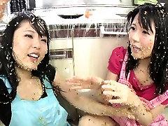 подзаголовок: экстремальный японское натто сплошинге лесбиянки