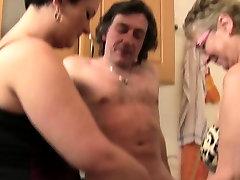 XXX Omas - Kitchen threesome with bruttany shae step to daddy sluts