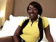Perfectly Shaped Ebony Babe Fucked Hard