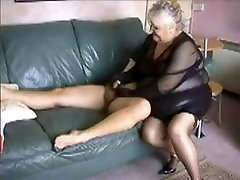 Amateur fucked hard by two granny fucked