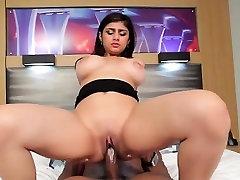 Big boobs teen Mia Khalifa interracialed by black boner