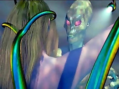 Hottie 3D anime cutie gets fucked by a monster