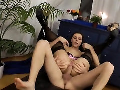 Nasty centerfold gapes her vagina and loves hardcore fucking