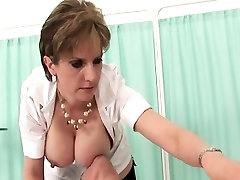 Adulterous british mature lady sonia pops out her big jugs