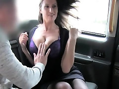 Natural busty in old mommy forced stocks titfucked in taxi
