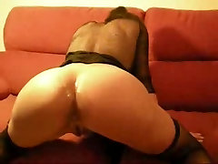 Amateur anal fuck creampie and cumfart