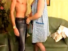 Chubby Mature Fucks a Young Guy