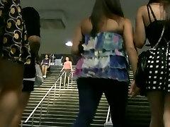 Upskirted at Penn Station