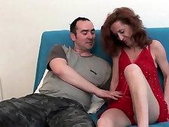 Skinny milf gets cum coating