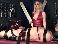 Femdoms bdsm electoplay for wrapped up sub