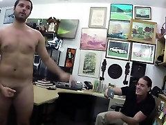 Naked guy takes stiff dicks