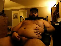 Danish Guy - Jerkoff session wearing a leather cap and leat