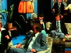 Ebony beauty doing cocks in a row in retro video