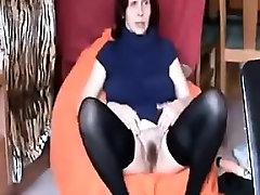 mature housewife Sandy masturbates and cums