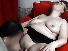 BBW lapdancer gets her big pussy fingered till orgasm
